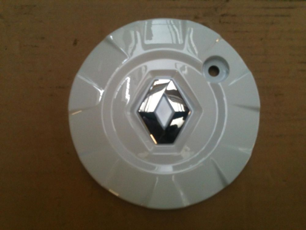 Renault Clio S Alloy Wheel Centre cap in White for Canasta type hub cap
